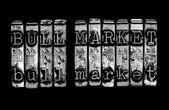 Bull markt concept — Stockfoto