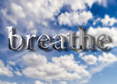 Breathe or exhale — Stock Photo