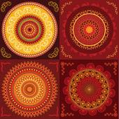 Renkli kına mandala tasarım — Stok Vektör