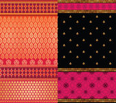 Indian Silk Sari borders — 图库矢量图片