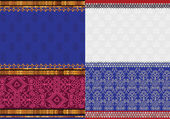 Indian Silk Sari borders — ストックベクタ