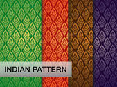 Indian Pattern - Detailed and easily editable — Stock Vector