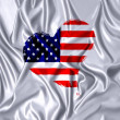 USA heart. — Stock Photo