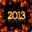 Burning 2013. — Stock Photo