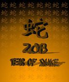 Year of snake. — Stockfoto
