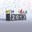 2013 New Year. - Stock Photo