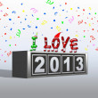 I love 2013. — Stock Photo
