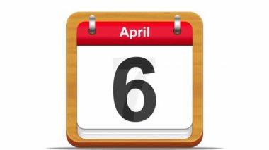 April kalender. — Stockvideo
