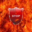 Stop shield. - Stock Photo