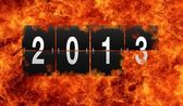 2013 flame. — Stock Photo