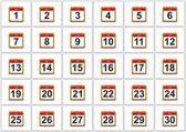 Juni kalender. — Stockfoto
