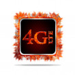 Stock Photo: 4G LTE telecommunication.