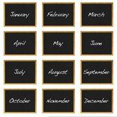 Month blackboard. — Stock Photo