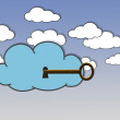 Secure Cloud. — Stock Photo