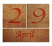 Wooden calendar April 29. — Stock Photo