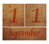 Wooden calendar September 11. — Stock Photo