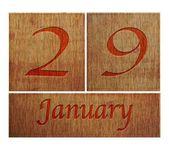 Wooden calendar January 29. — Stock Photo