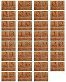 Houten kalender kan — Stockfoto