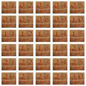 木製カレンダー 4 月. — ストック写真