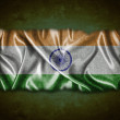 Royalty-Free Stock Photo: Vintage India flag.