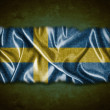 Vintage Sweden flag. — Stock Photo