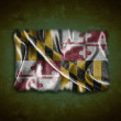 Vintage Maryland flag. — Stock Photo