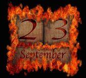 木製カレンダー 9 月 23 日の書き込み. — ストック写真
