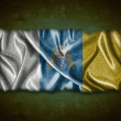 Vintage Canary Islands flag. — Stock Photo