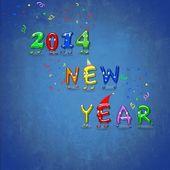 Szczęśliwego nowego roku 2014. — Zdjęcie stockowe