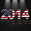 Usa New year 2014. — Stock Photo