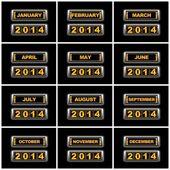 Calendar 2014. — Stock Photo