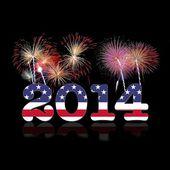 Usa nowy rok 2014. — Zdjęcie stockowe