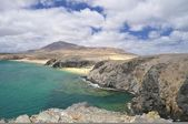 Papagayo beach, Lanzarote, Spain. — Stock Photo