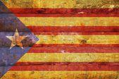 Wooden flag of Catalonia. — Stock Photo