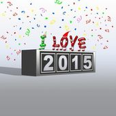 Happy New Year 2015. — Stock Photo