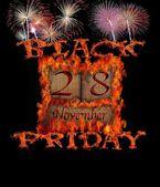 Black Friday November 28. — Stock Photo