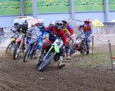 Motorcross in El Berron, Asturias, spain — Stock Photo