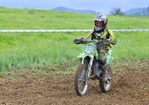 Motocross in Valdesoto, Asturias, Spain — Foto Stock