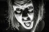 Scared Woman — Stock Photo