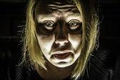 Femme peur — Photo