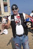 Asbury Park Zombie Walk 2013 - Zombie Biker — Stock Photo
