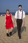 Asbury Park Zombie Walk 2013 - Roaring 20s Zombies — Stock Photo
