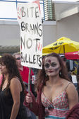 Asbury Park Zombie Walk 2013 - Zombie Activist — Stock Photo