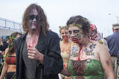 Asbury Park Zombie Walk 2013 - Zombie Couple — Stock Photo