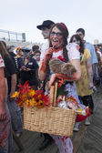 Asbury Park Zombie Walk 2013 - Dorothy and Toto — Stock Photo