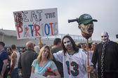 Asbury Park Zombie Walk 2013 - Football Fans — Stock Photo
