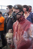 Asbury Park Zombie Walk 2013 - Gas Mask Zombie — Stock Photo