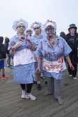Asbury Park Zombie Walk 2013 - Lunch Ladies — Stock Photo