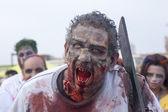 Asbury Park Zombie Walk 2013 - Chainsaw Zombie — Stock Photo
