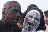 Asbury Park Zombie Walk 2013 - Scary Nun and Friend — Stock Photo